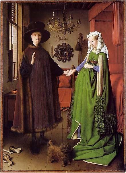 JAN VAN EYCK, Retrato de Casamento (nascimento da pintura a óleo)